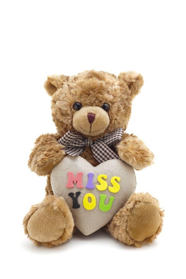 熊错过女用连杉衬裤您 免版税库存图片
