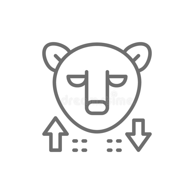 熊,股票市场,财务贸易线象 库存例证