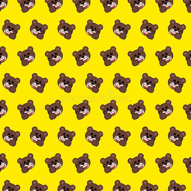 熊- emoji样式06 向量例证