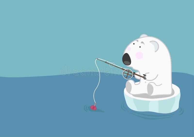 熔化冰的环境问题 库存例证