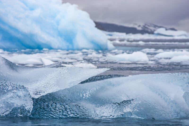 熔化在南极水域中的冰山 图库摄影