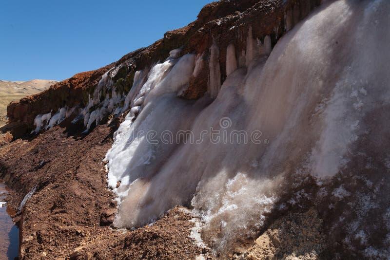 熔化在秘鲁高地的冰 免版税库存图片