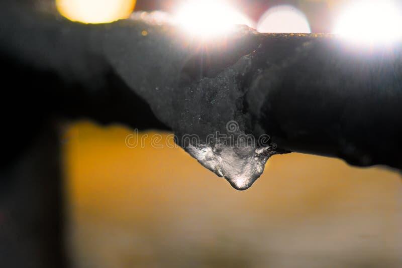 熔化的冰 图库摄影