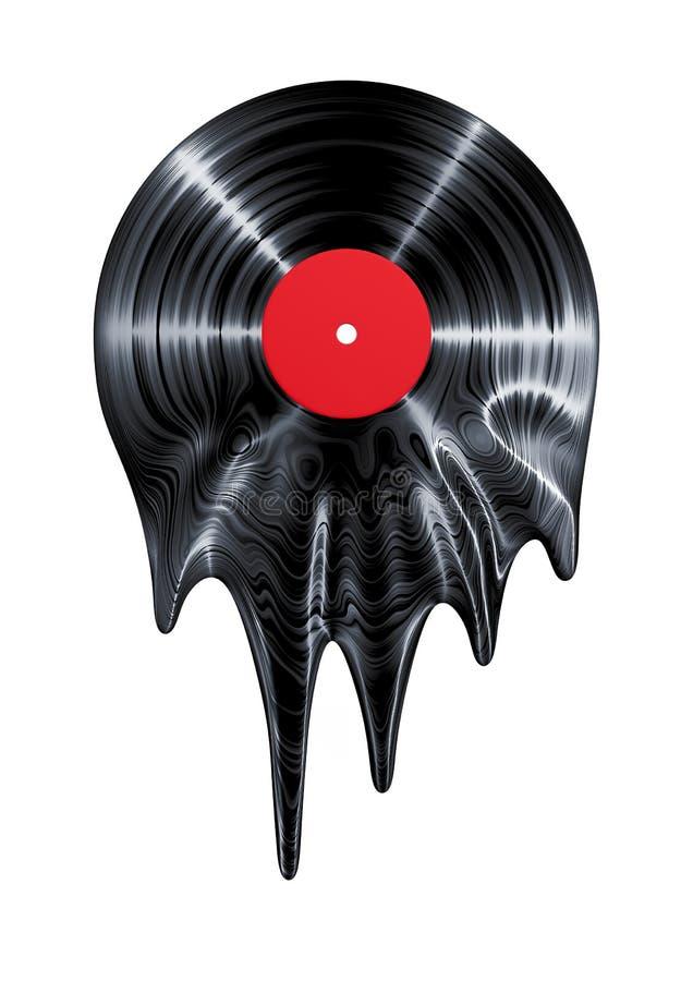 熔化的唱片 向量例证