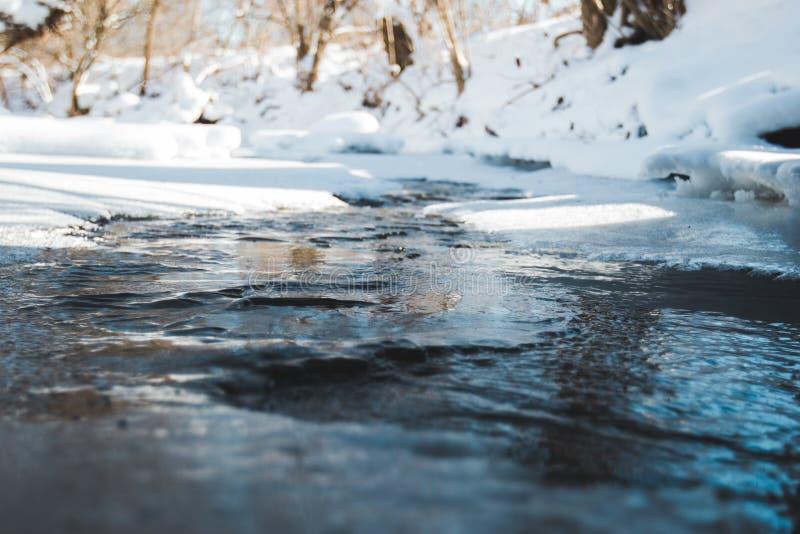 熔化的小河 库存图片