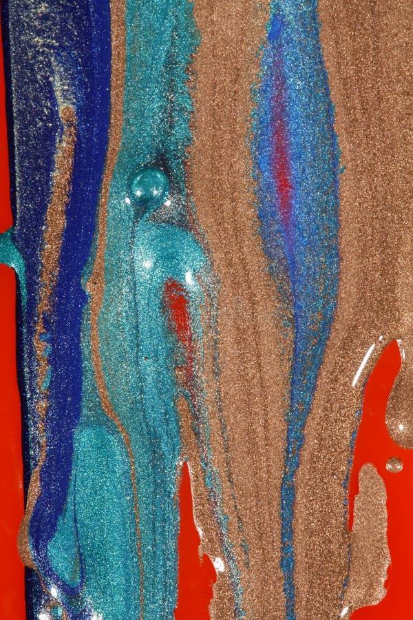 熔化的油漆 免版税库存图片