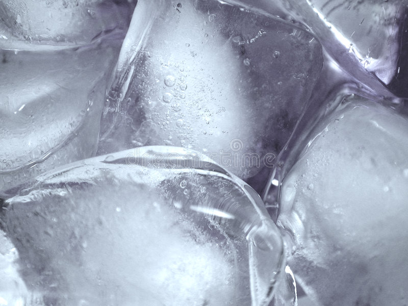 熔化纹理的冰icecubes 库存图片
