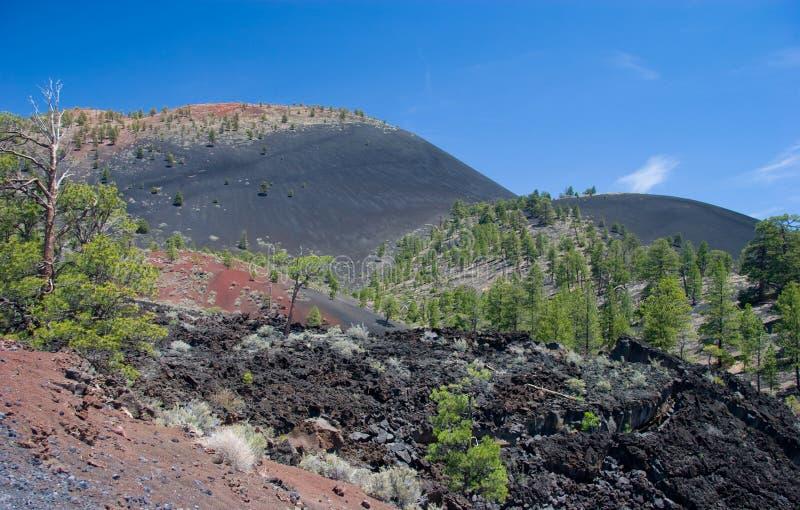 熔岩圆顶,日落火山口火山国家历史文物 免版税库存照片