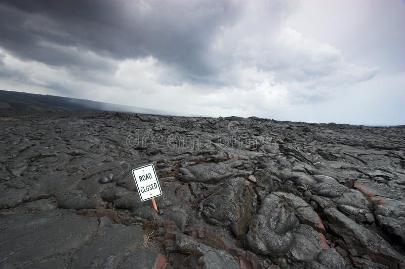 熔岩路标 免版税库存照片