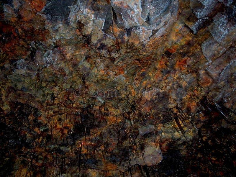 熔岩洞,天花板样式 免版税库存照片