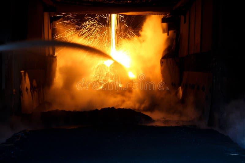 熔炉火花 免版税库存图片