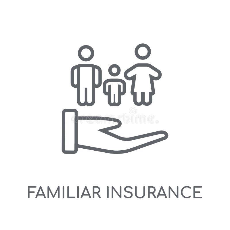熟悉的保险线性象 现代概述熟悉的insuranc 库存例证