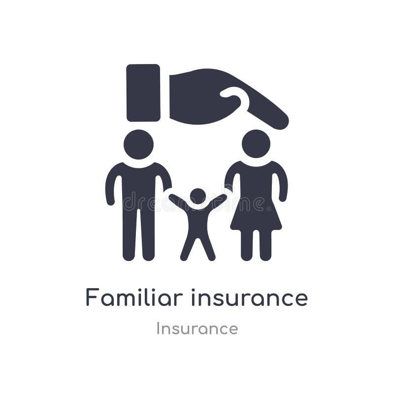 熟悉的保险象 从保险汇集的被隔绝的熟悉的保险象传染媒介例证 r 库存例证