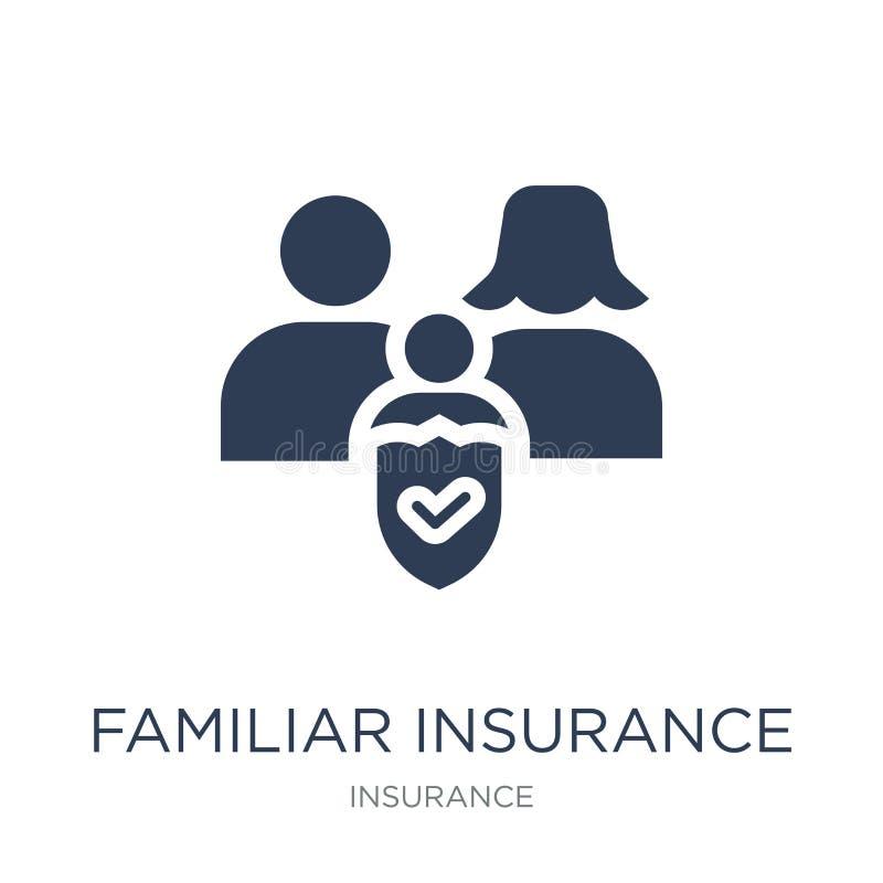 熟悉的保险象 时髦平的传染媒介熟悉的保险我 库存例证