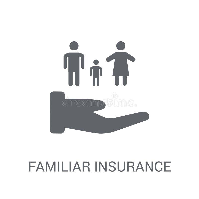 熟悉的保险象 时髦熟悉的保险商标概念 库存例证