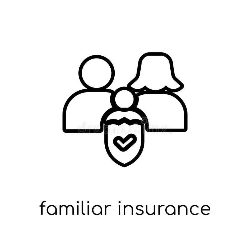 熟悉的保险象 时髦现代平的线性传染媒介Famili 皇族释放例证