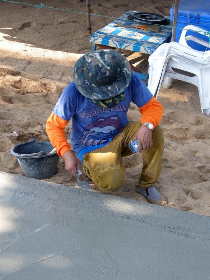 熟练的泥工 免版税库存照片