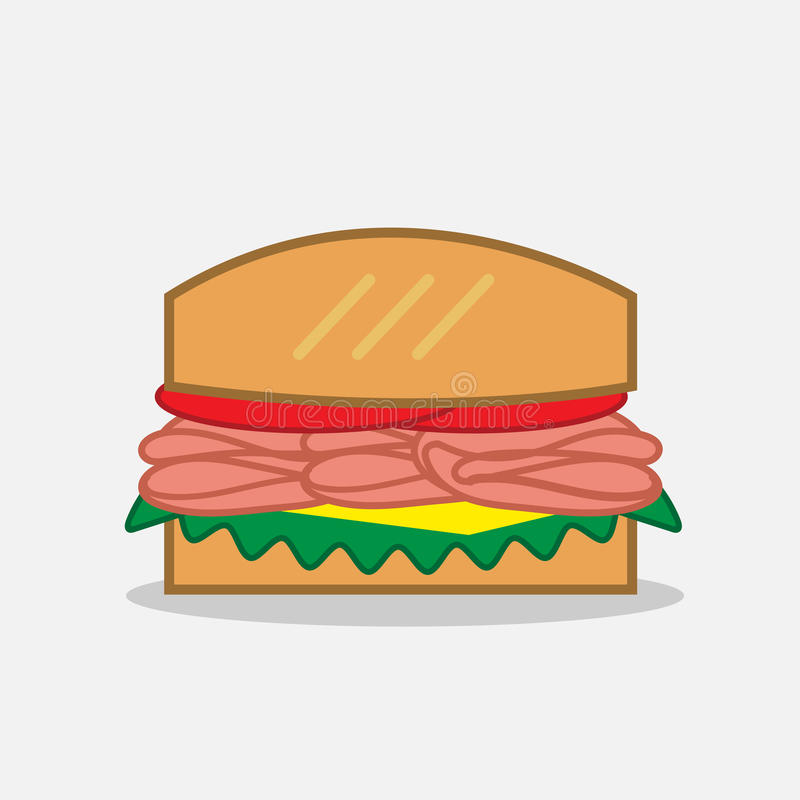 熟食店三明治 皇族释放例证