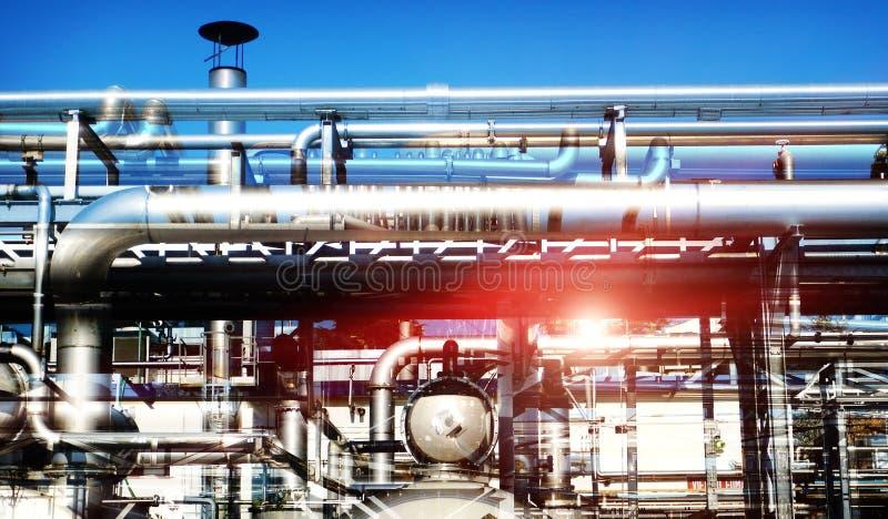燃料产业安装设备 图库摄影