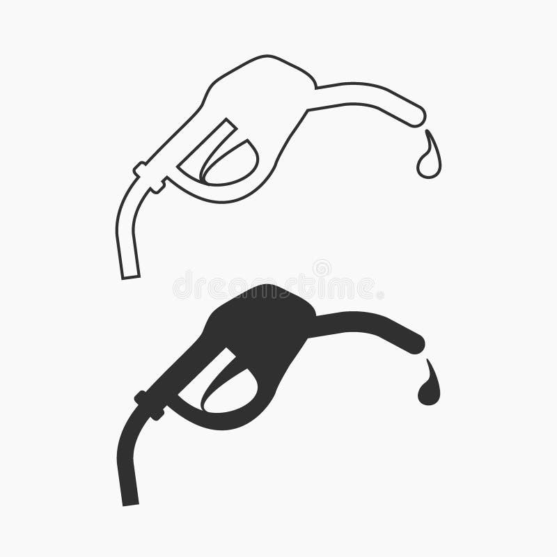 燃料传染媒介象 为图形设计隔绝的黑例证 皇族释放例证