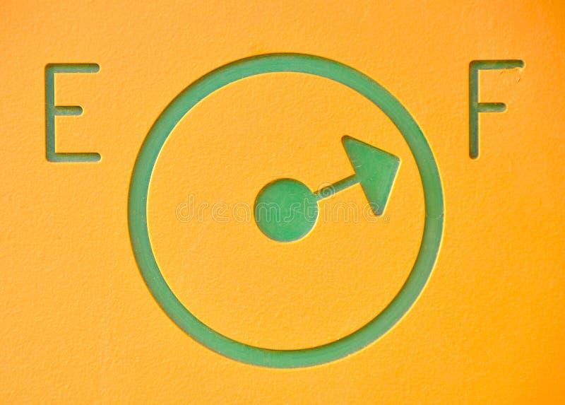 燃料充分的汽油测量仪 免版税库存照片