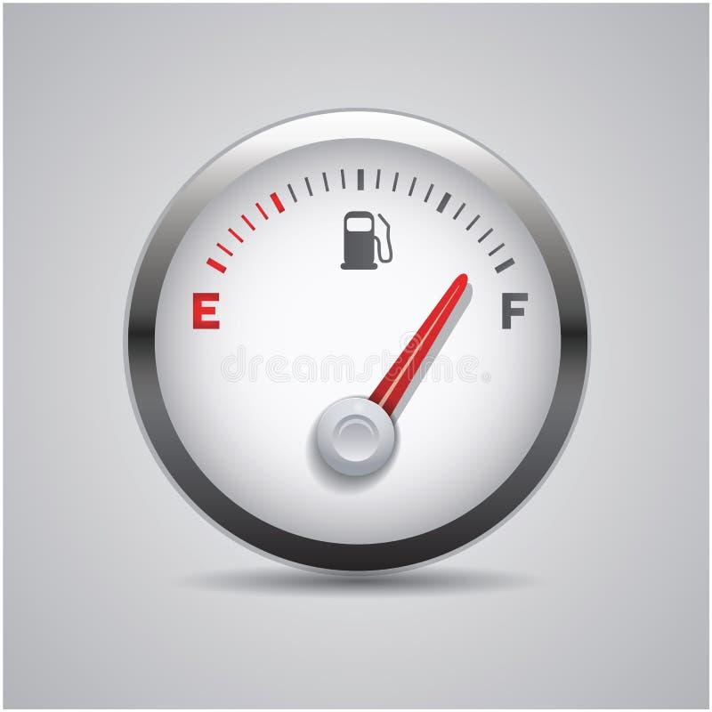 燃料按钮 向量例证