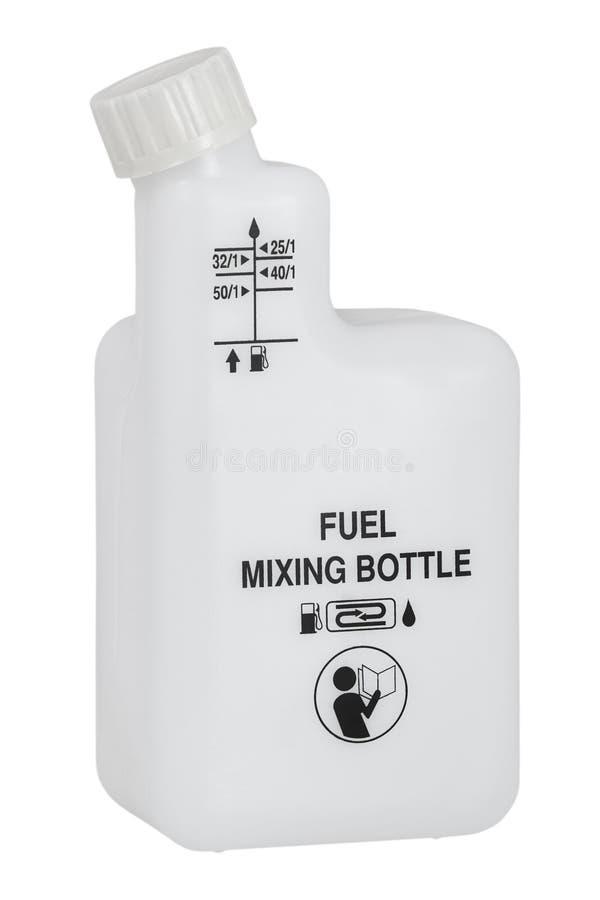 燃料混合的瓶罐头 库存照片
