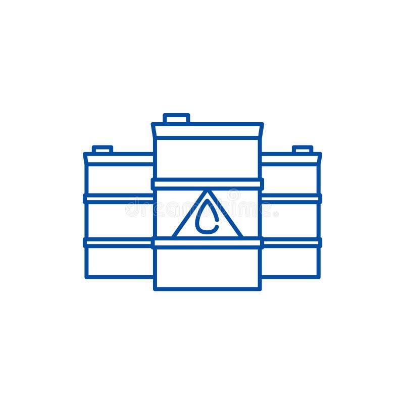 燃料管象概念 燃料平的传染媒介标志,标志,概述例证 向量例证