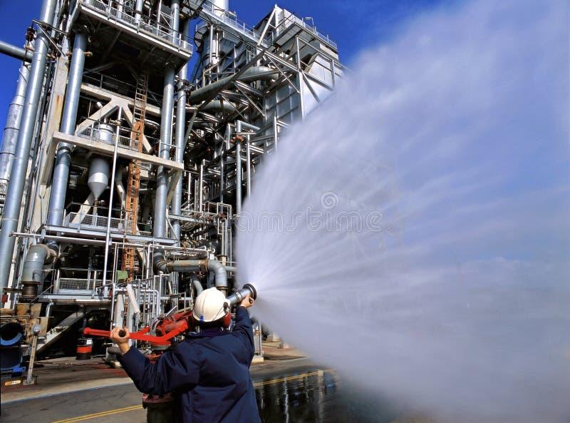 燃料精炼厂 库存照片