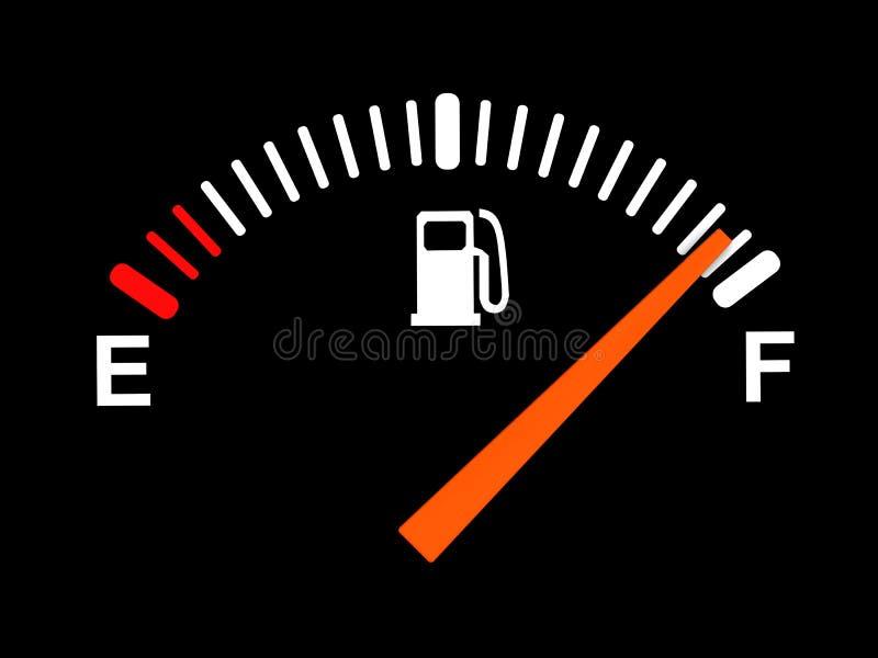 燃料表 向量例证