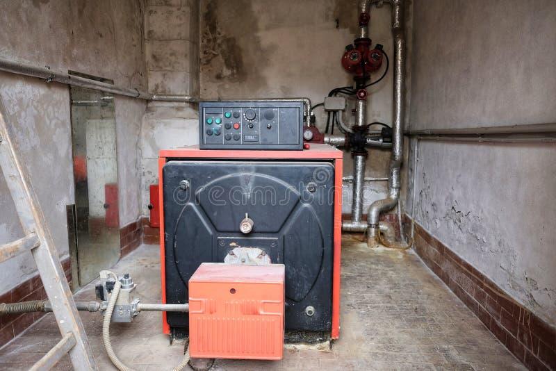 燃气锅炉室 免版税库存照片