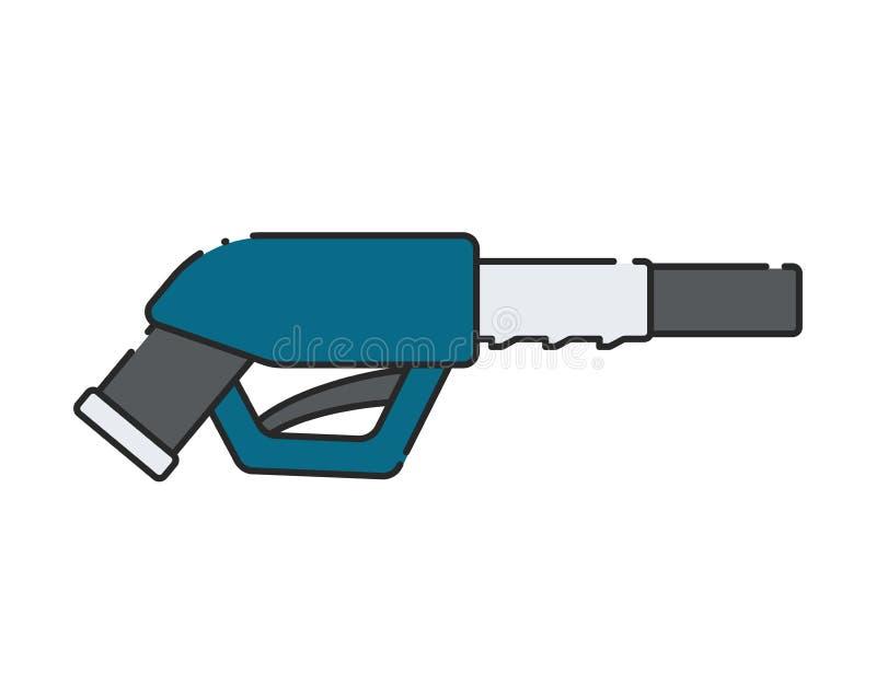 燃油泵枪象 库存例证