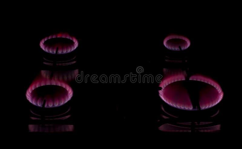 燃烧器火厨房红色 库存照片