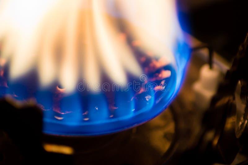 燃烧在火炉的火 库存照片