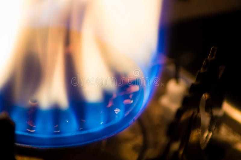 燃烧在火炉的火 免版税库存图片
