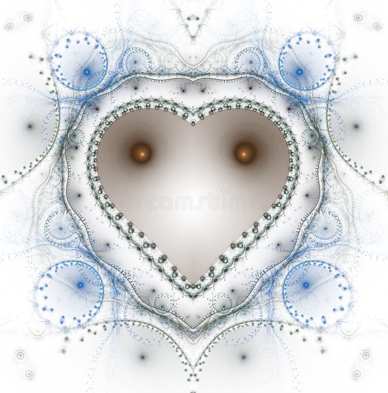 燃烧的和打的心脏 Valentine& x27; s天背景 2007个看板卡招呼的新年好 皇族释放例证