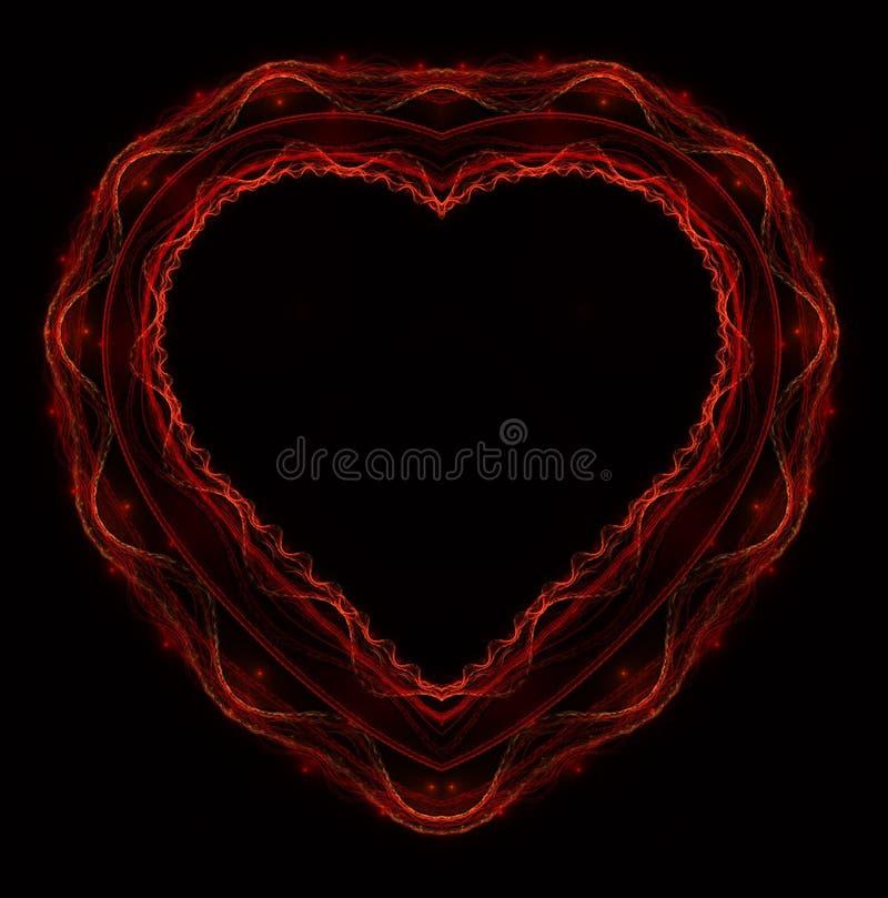 燃烧的和打的心脏 Valentine& x27; s天背景 2007个看板卡招呼的新年好 库存例证