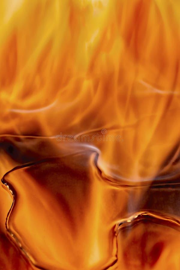 燃烧的导致的feul,火,火焰 免版税库存图片