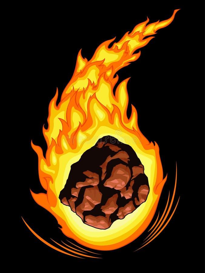 燃烧的彗星 向量例证