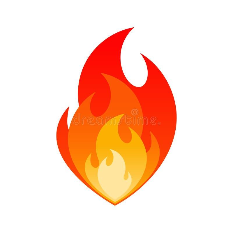 燃烧的火火焰气体爆炸危险标志 皇族释放例证