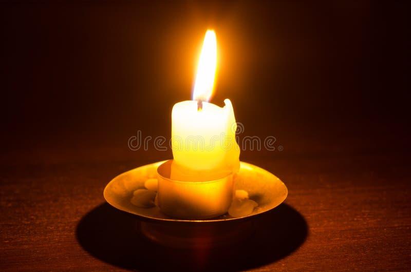 燃烧的蜡烛 图库摄影