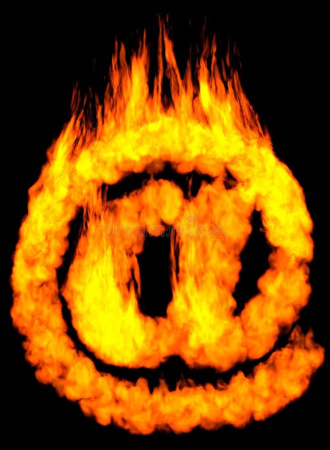 燃烧的e邮件符号 向量例证