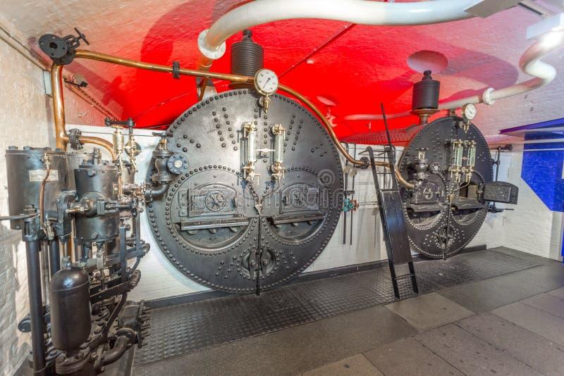 燃煤锅炉,塔桥梁,伦敦,英国 库存图片