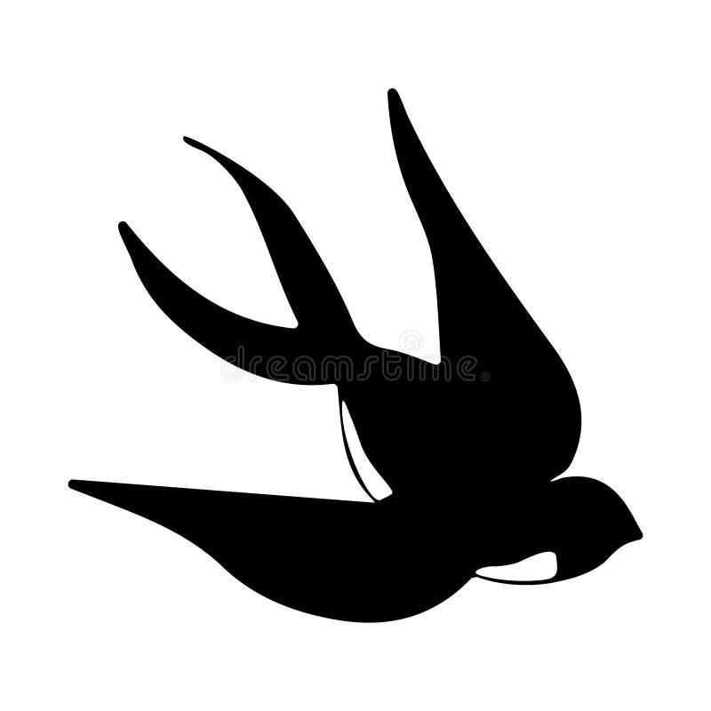 燕子的传染媒介例证在简单的样式的 向量例证