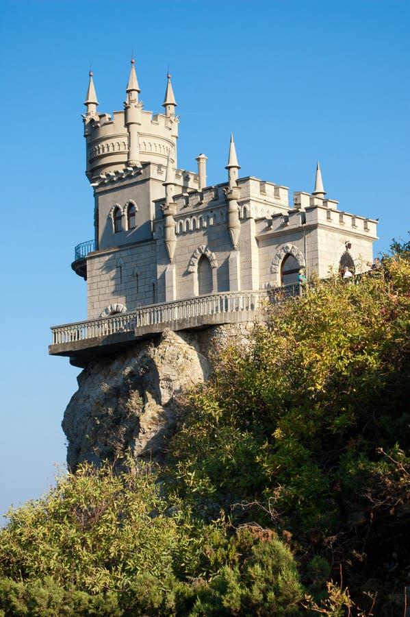 燕子的嵌套,克里米亚,乌克兰 免版税库存照片