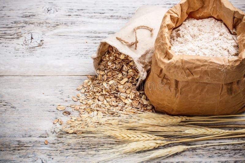 燕麦剥落 库存图片