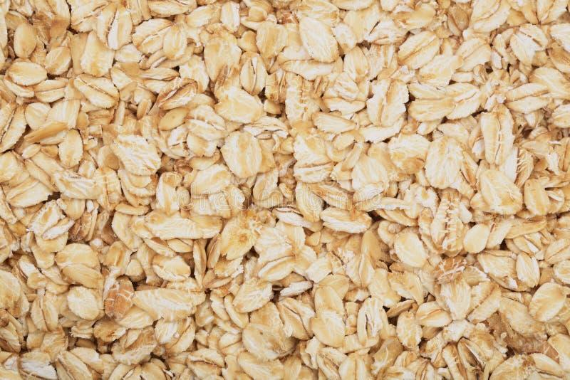 燕麦粥纹理作为背景 顶视图 库存图片
