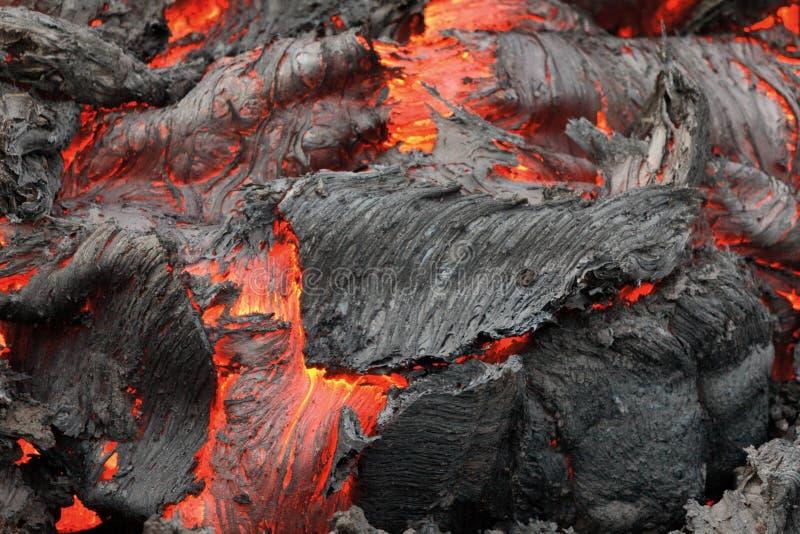 爆发火山扎尔巴奇克火山 库存照片