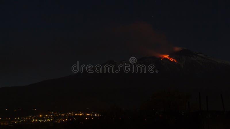 爆发火山Etna 库存照片