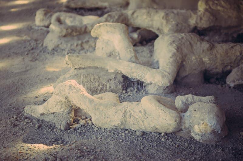 爆发` s死亡的受害者在庞贝城 库存照片